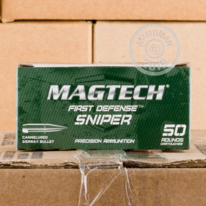 Image of 5.56x45mm ammo by Magtech that's ideal for precision shooting, training at the range.