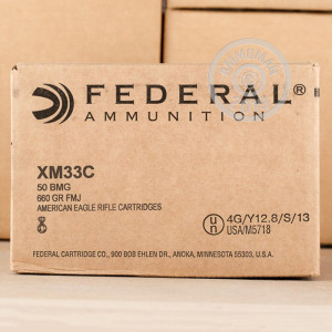 Image of Federal .50 BMG rifle ammunition.