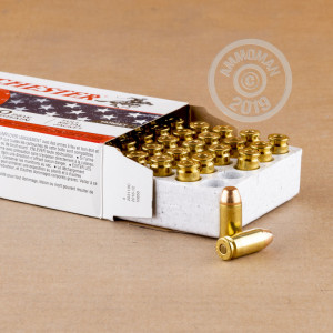 Image detailing the brass case and boxer primers on the Winchester ammunition.