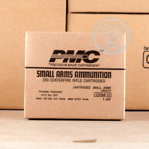 A photograph of 800 rounds of 150 grain 308 / 7.62x51 ammo with a Pointed Soft-Point (PSP) bullet for sale.
