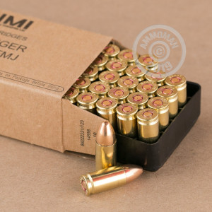 An image of 9mm Luger ammo made by Israeli Military Industries at AmmoMan.com.