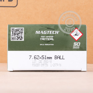 Image of Magtech 308 / 7.62x51 rifle ammunition.