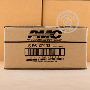 Photo detailing the 5.56 NATO PMC M193 55 GRAIN FMJ (20 ROUNDS) for sale at AmmoMan.com.