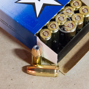 Photo of 9mm Luger JHP ammo by Independence for sale at AmmoMan.com.