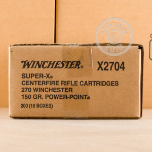 Photo of 270 Winchester Power-Point (PP) ammo by Winchester for sale.
