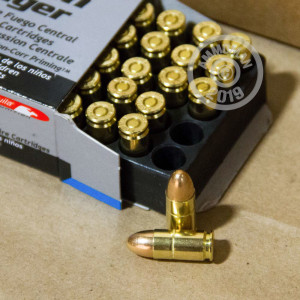 Photo of 9mm Luger FMJ ammo by Aguila for sale at AmmoMan.com.
