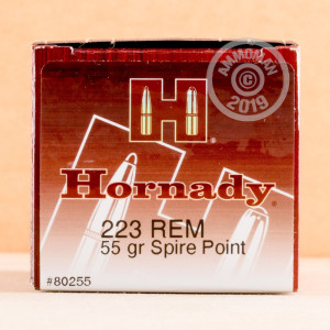 Image of the 223 REMINGTON HORNADY 55 GRAIN SP (500 ROUNDS) available at AmmoMan.com.