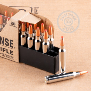 Photo detailing the 223 REM HORNADY CRITICAL DEFENSE 73 GRAIN FTX (200 ROUNDS) for sale at AmmoMan.com.