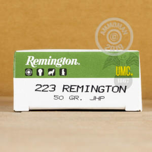 Image of the .223 REMINGTON UMC 50 GRAIN JHP (20 ROUNDS) available at AmmoMan.com.
