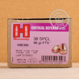 Photo of 38 Special JHP ammo by Hornady for sale at AmmoMan.com.