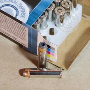 Image of 357 Magnum ammo by Federal that's ideal for home protection.