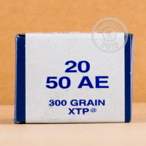 Image of 50 Action Express ammo by Armscor that's ideal for hunting wild pigs, whitetail hunting.