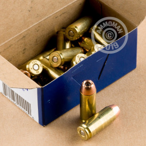 A photograph of 20 rounds of 300 grain 50 Action Express ammo with a JHP bullet for sale.