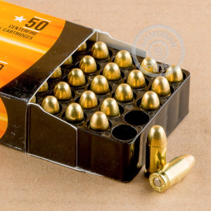 Image of .380 Auto ammo by Armscor that's ideal for training at the range.