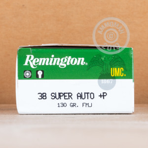 An image of 38 Super ammo made by Remington at AmmoMan.com.