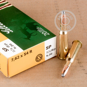 An image of 7.62 x 54R ammo made by Sellier & Bellot at AmmoMan.com.