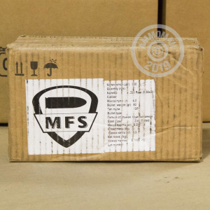 Image detailing the zinc plated steel case on the MFS ammunition.