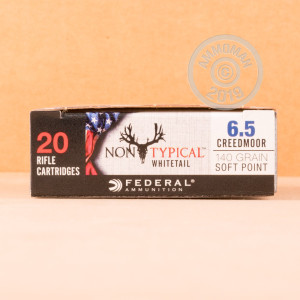 Image of the 6.5 CREEDMOOR FEDERAL NON-TYPICAL WHITETAIL 140 GRAIN SP (20 ROUNDS) available at AmmoMan.com.