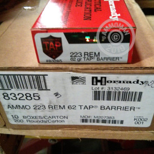 Image of the .223 REMINGTON HORNADY TAP 62 GRAIN SP (200 ROUNDS) available at AmmoMan.com.
