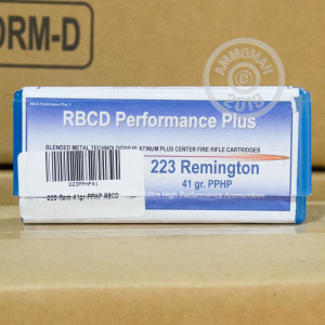 Image of 223 Remington ammo by RBCD Performance Plus that's ideal for .