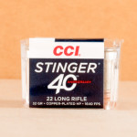 Photo detailing the 22 LR CCI STINGER 32 GRAIN CPHP (500 ROUNDS) for sale at AmmoMan.com.