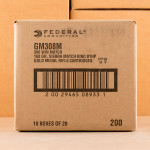 Image of 308 WIN FEDERAL GOLD MEDAL 168 GRAIN MATCHKING BTHP (200 ROUNDS)