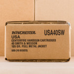 Image of .40 S&W WINCHESTER 165 GRAIN FULL METAL JACKET (500 ROUNDS)