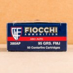 Image of the 380 AUTO FIOCCHI 95 GRAIN FMJ (1000 ROUNDS) available at AmmoMan.com.