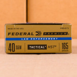 Image of the 40 S&W FEDERAL HST 165 GRAIN JHP (50 ROUNDS) available at AmmoMan.com.