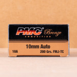 Photo detailing the 10MM AUTO PMC 200 GRAIN FMJ (1000 ROUNDS) for sale at AmmoMan.com.