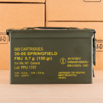 Photograph showing detail of 30-06 PRVI PARTIZAN 150 GRAIN FMJ IN AMMO CAN (500 ROUNDS)