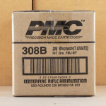 Image of .308 WINCHESTER PMC BRONZE 147 GRAIN FMJ (20 ROUNDS)
