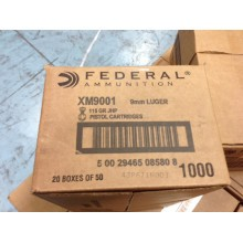 Image of the 9MM FEDERAL 115 GRAIN JHP (1000 ROUNDS) available at AmmoMan.com.