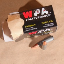 7.62X39MM WOLF WPA POLYFORMANCE 123 GRAIN FMJ (20 ROUNDS)