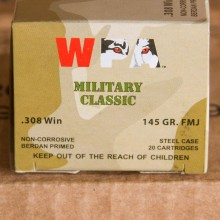 308 WIN WOLF WPA 145 GRAIN FMJ (20 ROUNDS)