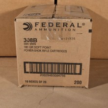 308 WIN FEDERAL POWER SHOK 180 GRAIN SP (200 ROUNDS)