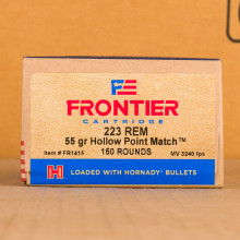 Image detailing the brass case and boxer primers on 150 rounds of Hornady ammunition.