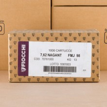 Image of 7.62mm NAGANT ammo by Fiocchi that's ideal for training at the range.