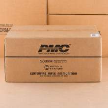 Image of bulk 308 / 7.62x51 ammo by PMC that's ideal for precision shooting, training at the range.
