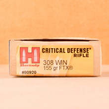 Image of 308 / 7.62x51 ammo by Hornady that's ideal for home protection.