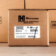 An image of 300 Winchester Magnum ammo made by Hornady at AmmoMan.com.