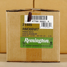 Photo of 308 / 7.62x51 Hollow-Point Boat Tail (HP-BT) ammo by Remington for sale.
