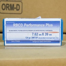 7.62x39MM RBCD PERFORMANCE PLUS 124 GRAIN BMTSP (20 ROUNDS)
