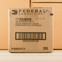 Image of Federal 30.06 Springfield rifle ammunition.