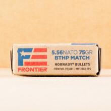 Image of 5.56X45MM HORNADY FRONTIER 75 GRAIN HPBT MATCH (500 ROUNDS)