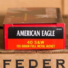 40 S&W FEDERAL AMERICAN EAGLE 155 GRAIN FMJ (50 ROUNDS)
