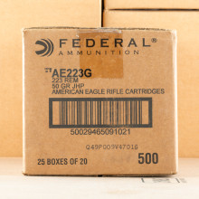 A photo of a box of Federal ammo in 223 Remington.