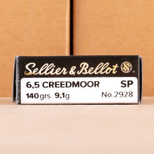 Photo of 6.5MM CREEDMOOR soft point ammo by Sellier & Bellot for sale.