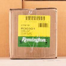 Image detailing the brass case on the Remington ammunition.