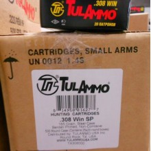 308 WIN TULA 165 GRAIN SOFT POINT (20 ROUNDS)